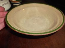 OLD DEVON TORQUAY POTTERY SMALL SHALLOW DISH WITH SLOPED RIM